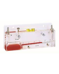 MANOMETRE A COLONNE DE LIQUIDE INCLINE - Dim. 234 x 80 x 30 mm MESURE 0-10 mm CE OU 0-100Pa