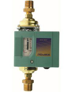 PRESSOSTAT DIFFERENTIEL LIQUIDE ET GAZ IP44 - PLAGE +0,2/+2 Bar RACCORD MALE 3/8'' DIFF. FIXE 0,15 Bar PRESSION MAX. 5,5 Bar