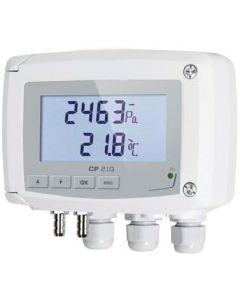 TRANSMETTEUR PRESSION ACTIF - ECHELLE DE MESURE +/-1000Pa ABS IP65 4-20mA 0-10Vac/dc + ELECTROVANNE