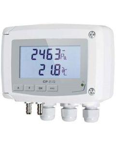 TRANSMETTEUR DE PRESSION ACTIF - ABS IP65 ECHELLE DE MESURE +/-1000Pa 4-20mA 0-10V 24Vac/dc + ELECTROVANNE + AFFICHEUR