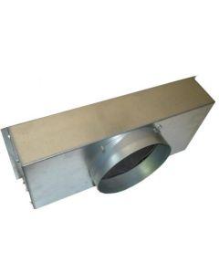 PLENUM DE RACCORDEMENT AVEC PIQUAGE LATERAL RES 450mm x 450mm GALVA H450mm Ø315mm
