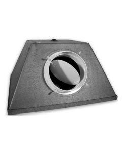 PLENUM DE RACCORDEMENT PYRAMIDAL PEP 594mm x 294mm GALVA H275 Ø250mm