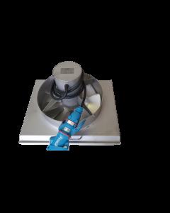 PANNEAU COMPLET INOX 304L AVEC VENTILATEUR MOTEUR TRIPHASE AVEC PRISE ET HELICE DIAMETRE 350mm POUR MODULAIR SF3 DF3 DF4.5 - CLIMINOX 60102