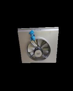 PANNEAU COMPLET INOX 304L AVEC VENTILATEUR MOTEUR TRIPHASE AVEC PRISE ET HELICE DIAMETRE 450mm POUR MODULAIR SF6 - CLIMINOX 60103