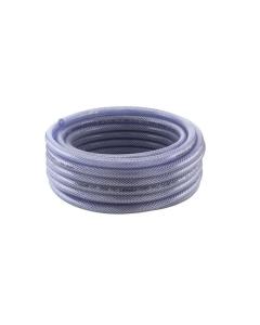 TUYAU PVC CRISTAL TRESSE TRICOCLAIR 19 x 27 mm - Ø INTERIEUR 19 Ø EXTERIEUR 27 ROULEAU DE 25M