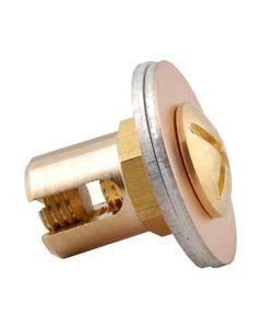 BORNE LAITON POUR CONDUCTEUR DE PROTECTION BLF6/50 - DIAMETRE 50 - LONGUEUR 26mm - COMPATIBLE CHEMIN DE CABLE CF54 A CF107