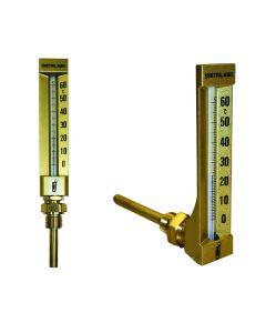 Thermomètres en laiton DN15 GAZ 1/2''